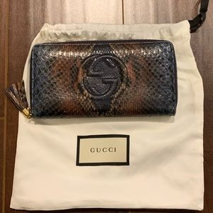 Gucci Soho Python Wallet